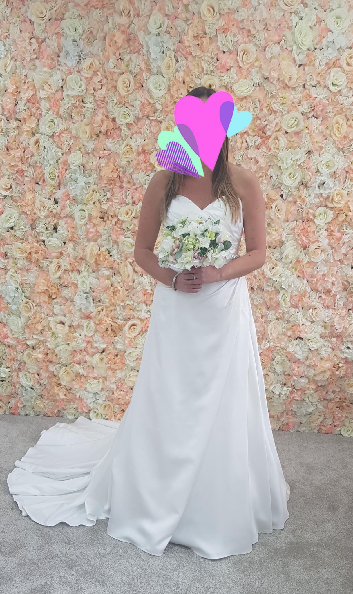 Lovely Flower Wall and bride