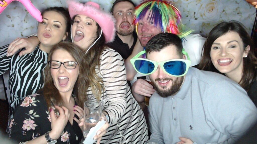 People in photo booth